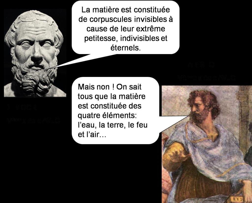 Démocrite et Aristote