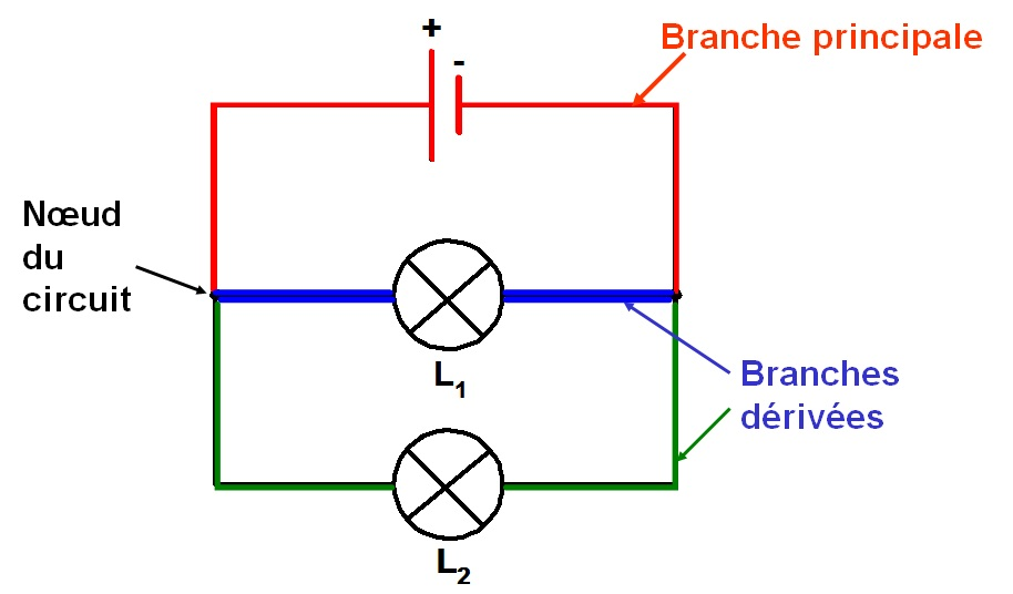 branches d'un circuit en dérivation