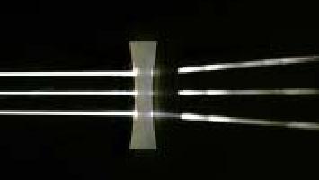 divergence d'un faisceau de lumières parallèles