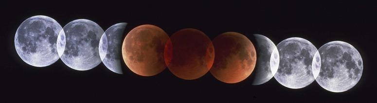 Photos d'une éclipse de Lune